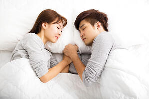 At Home Asian Couple