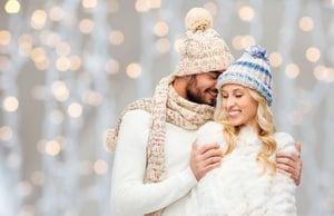 Happy Couple Winter