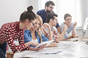 Millennials Working Office